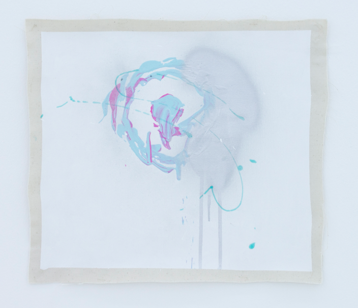 Untitled, silver (from the series A Perfect Circle: Exploring The Target Logo) vinyl on paper  70 x 100 cm  2011