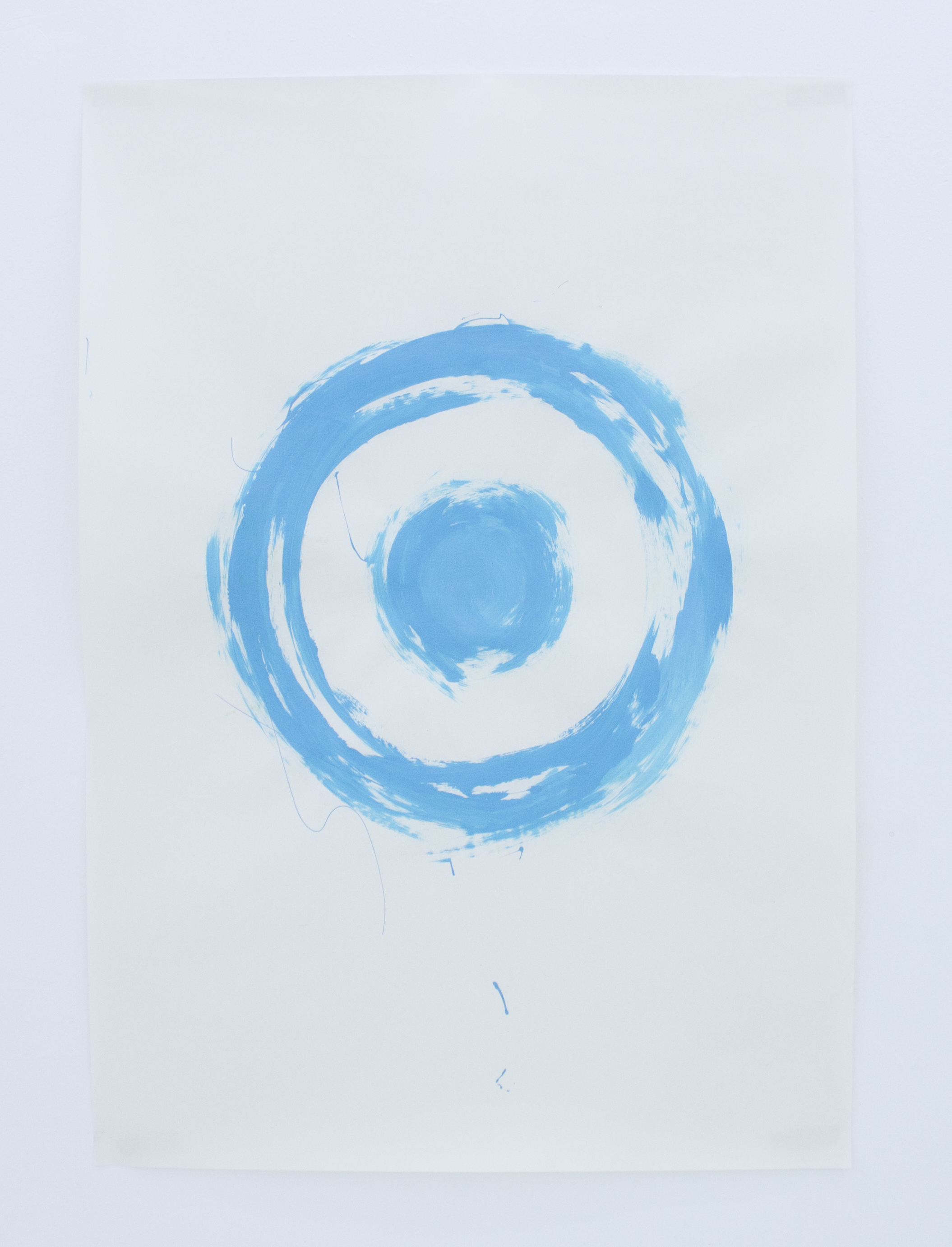 Untitled, blue (from the series A Perfect Circle: Exploring The Target Logo)   vinyl on paper   70 x 100 cm   2011