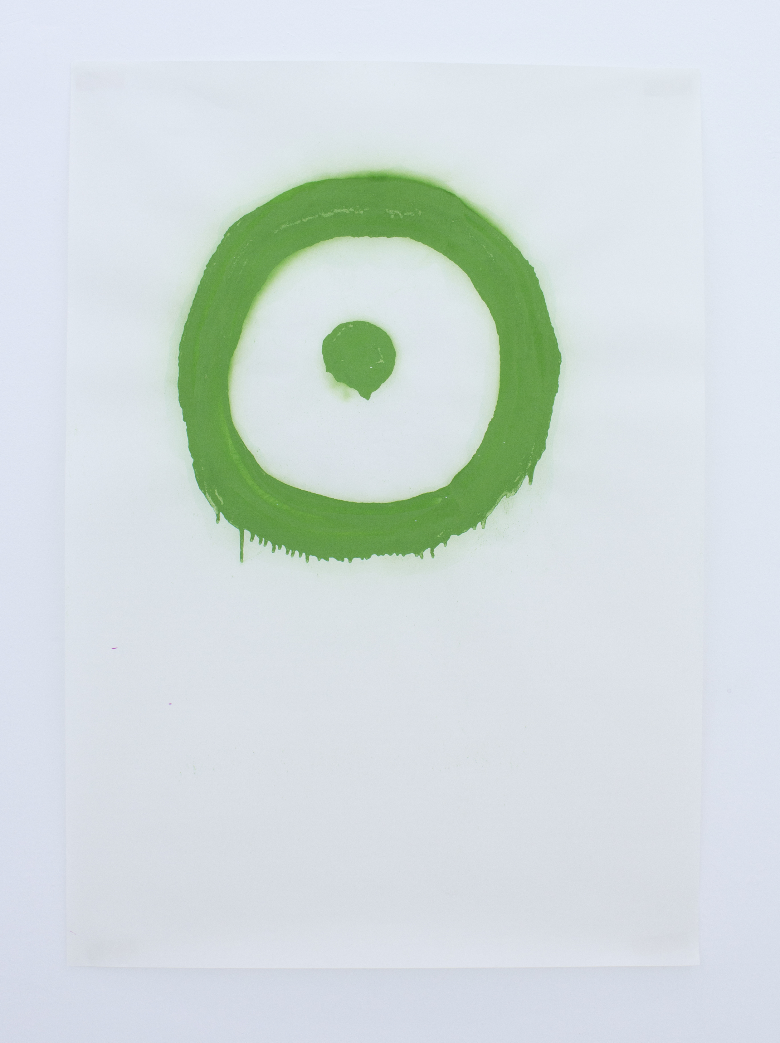 Untitled, green (from the series A Perfect Circle: Exploring The Target Logo)   vinyl on paper   70 x 100 cm   2011