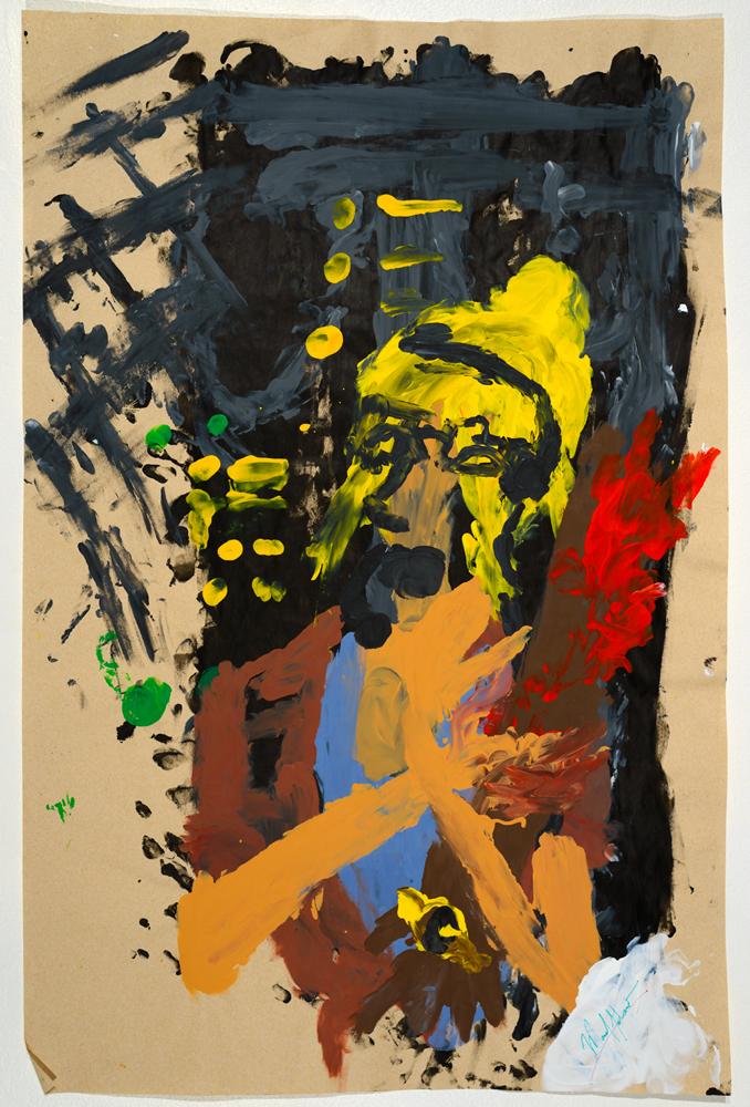 Mr. Arnold   acrylic on paper 87 x 57 cm 2014