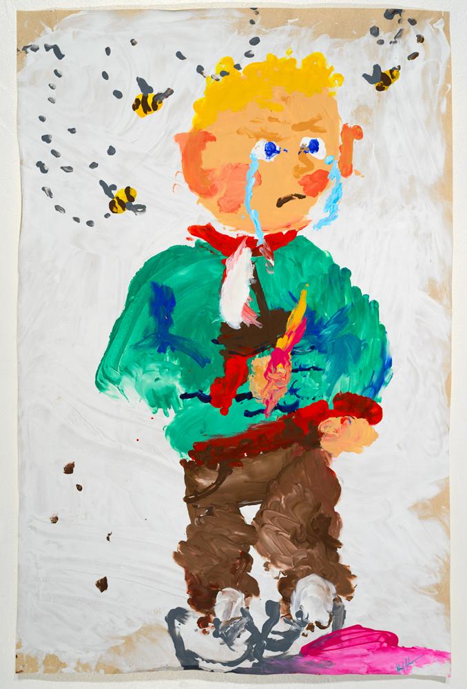 Dany  acrylic on paper   87 x 57 cm   2014