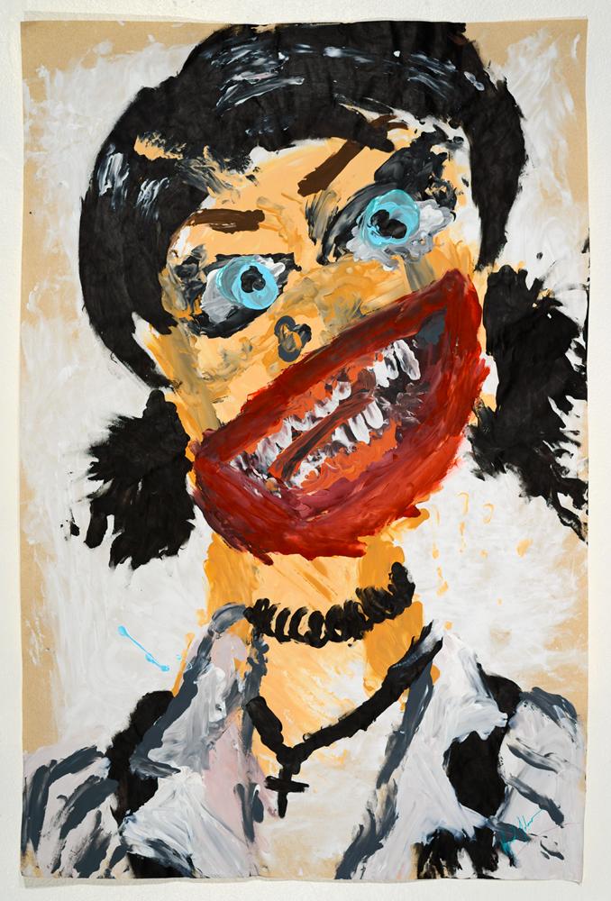 Fairuza 2 acrylic on paper   87 x 57 cm   2014