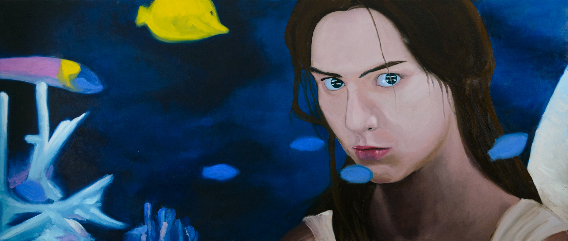 Finding From the series Seeing oil on canvas  200 X 85 cms 2015