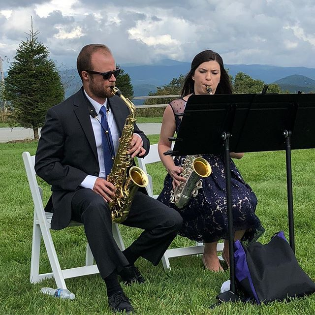 Meet instructors Robyn (saxophone) and Brandon (saxophone, piano, ukulele) Noftle! #upbeatmusiccompany #musiclessons #smallbusiness #lewisvillenc #lewisvilleclemmons #saxophone #piano #ukulele
