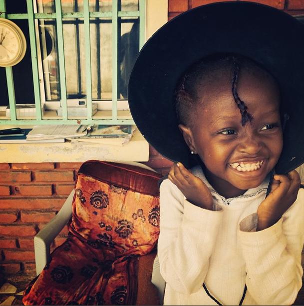 Baby Kate smiling in Liberia — via More Than Me