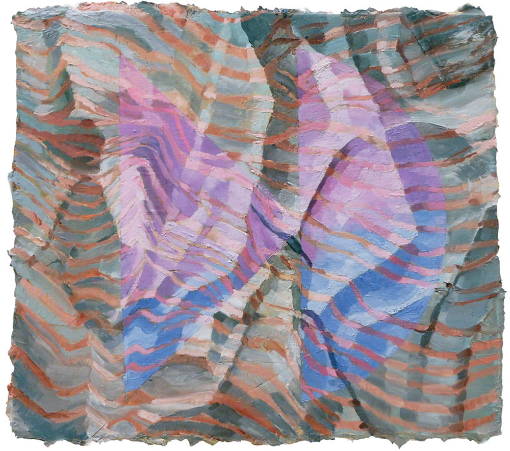 CHRIS RUSEELL – Cave Painting with Iron Oxide, 13 x 15 inches, Oil on Canvas, 2012