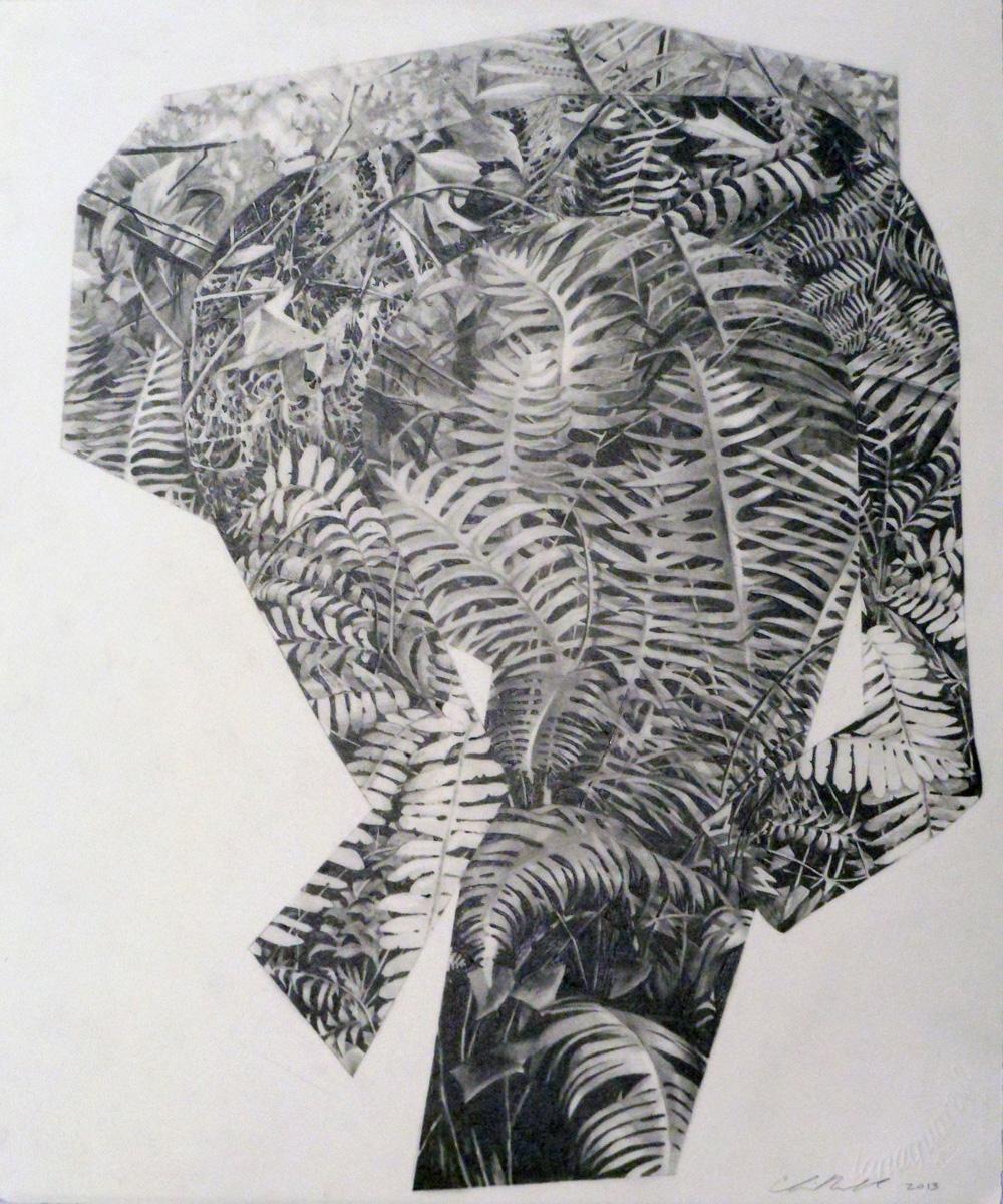 CHRIS RUSEELL – Machete, 18 x 15 inches, Graphite on Paper, 2013