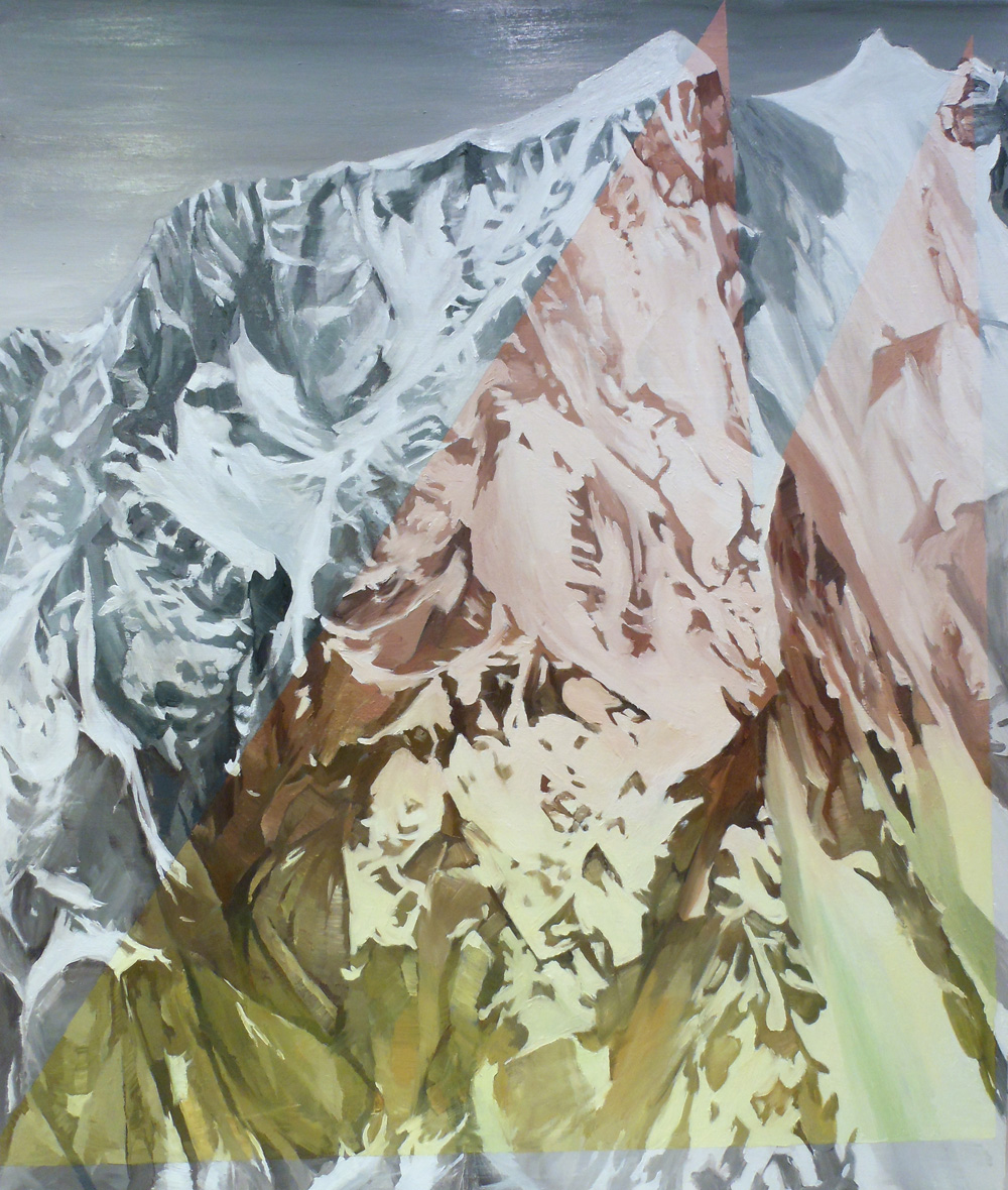 CHRIS RUSEELL – Rock Color Block, 50 x 42 inches, Oil on Canvas, 2012