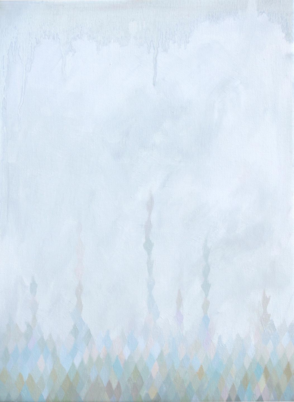 GINA BORG upward,oil on canvas, 16 x 12 inches, 2013