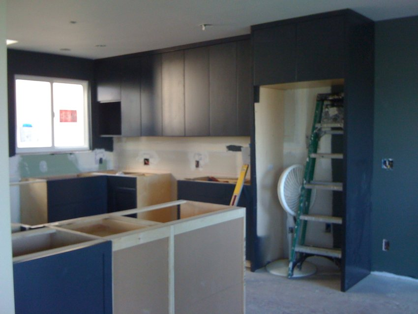Cindy and Paul's Kitchen in Process -- LOCZIdesign
