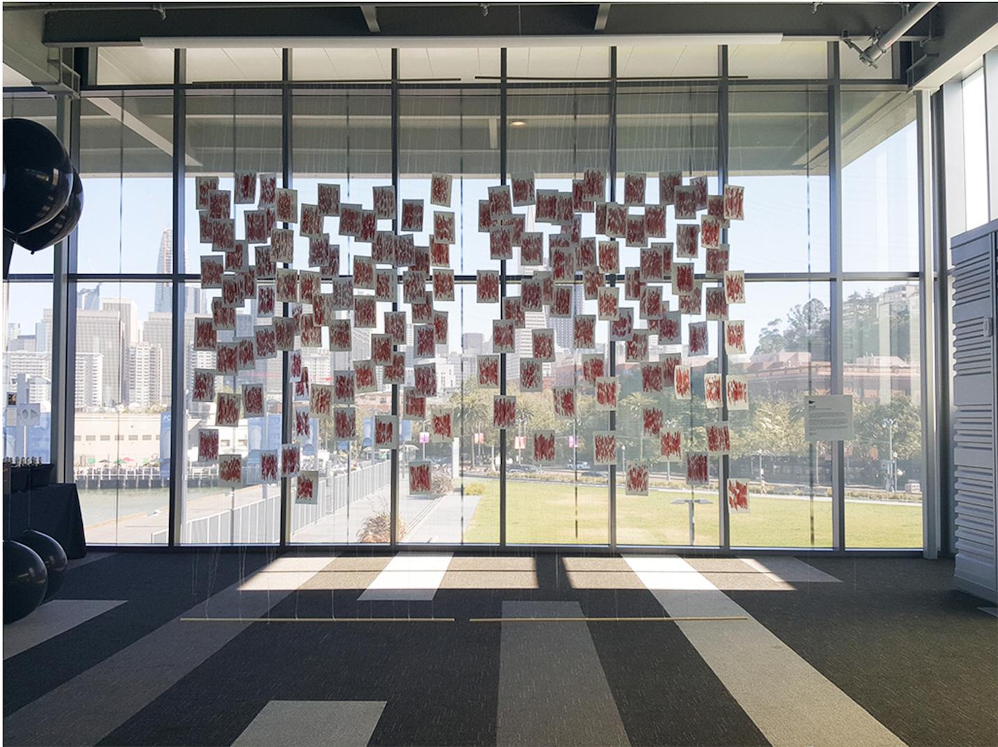 Chloe Bensahel's installation at San Francisco Design Week 2017