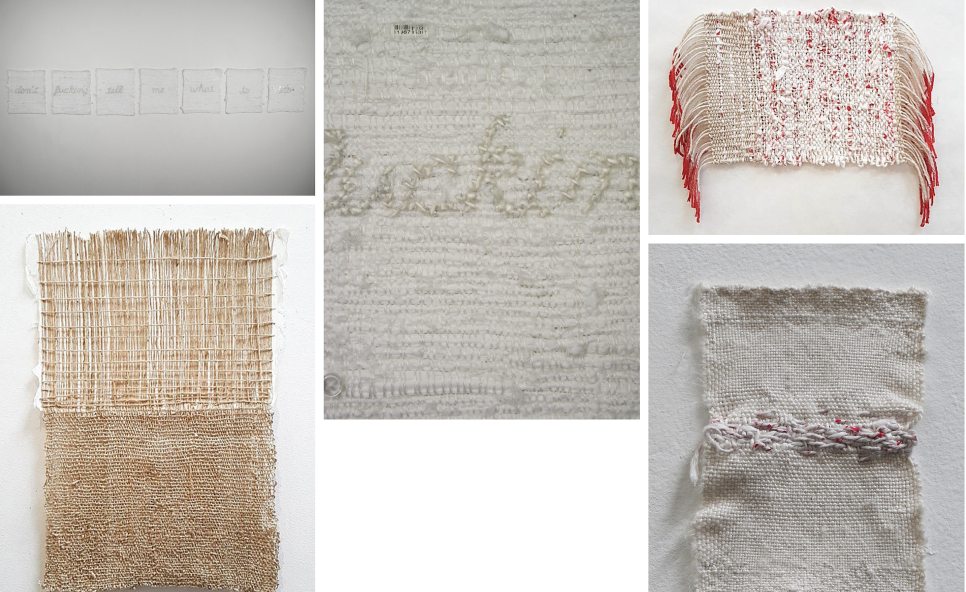 Textiles, paper & mixed media (composite from artist's website)