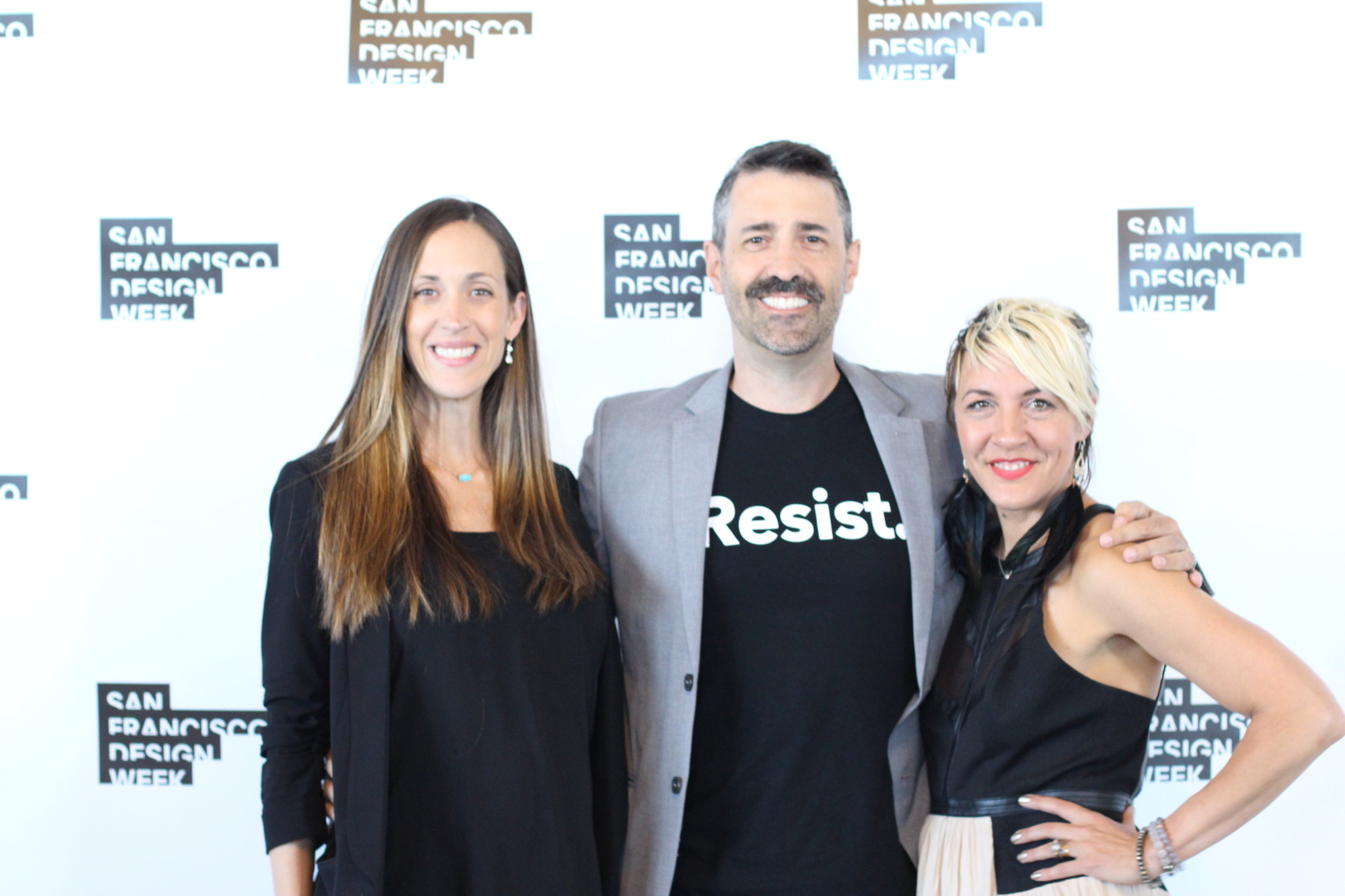 Christine and Chris Nunes from Heavy Projects, with Paige Loczi
