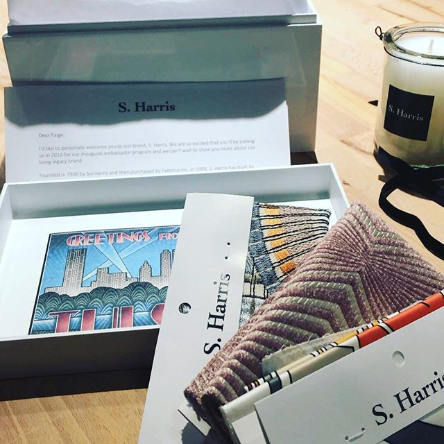 So excited to be a brand ambassador for #sharris fabric.  And even more excited to travel to S Harris HQ in Tulsa next month.