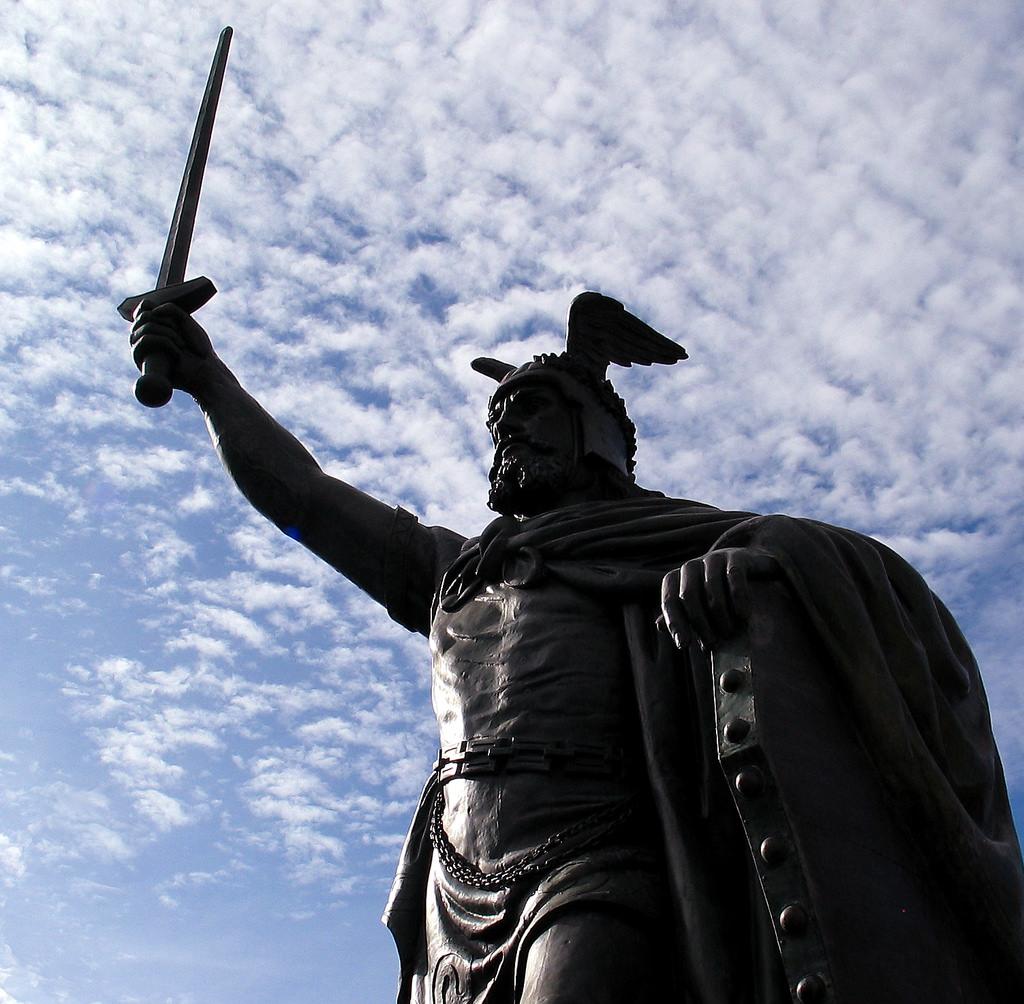 Hermann (Arminius) Statue in New Ulm, Minnesota