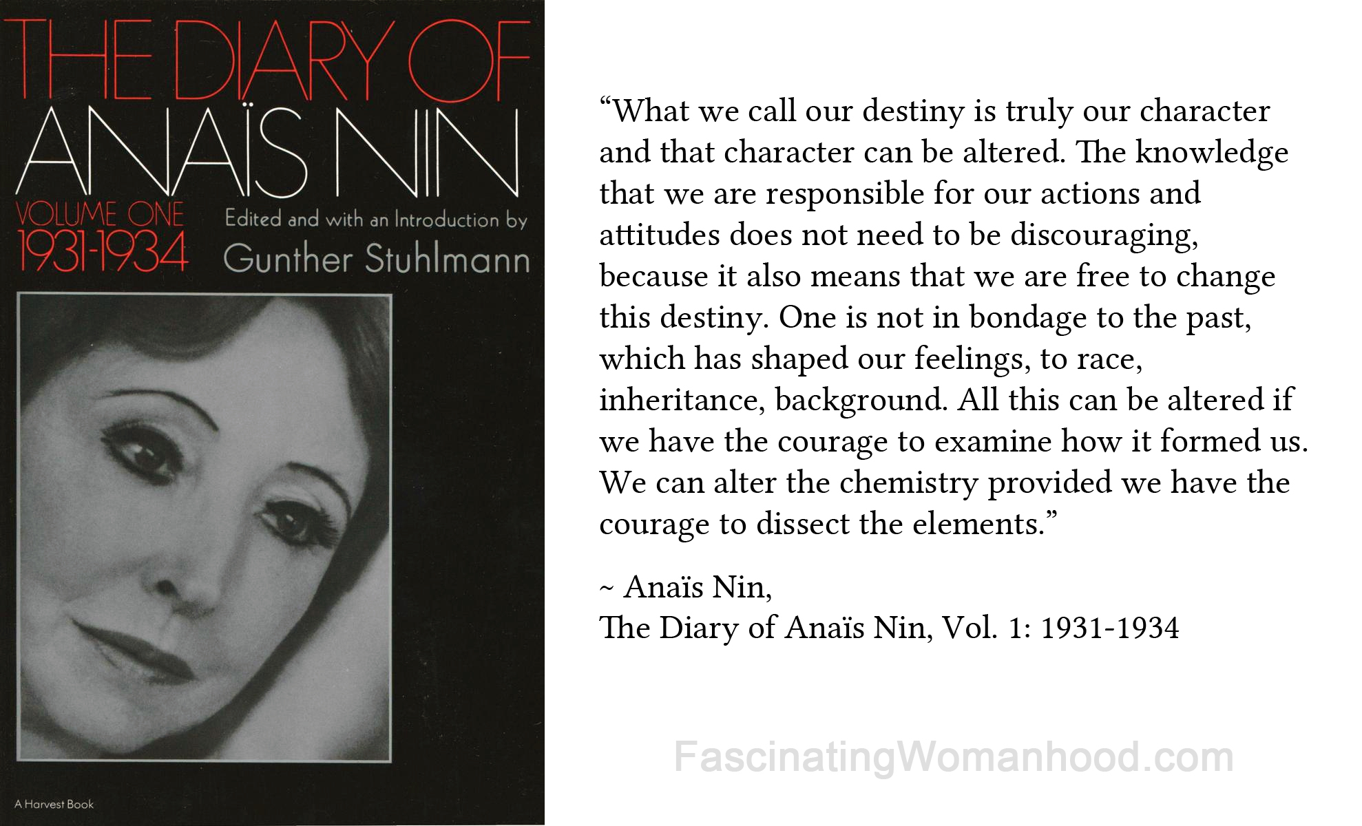 A Quote by Anaïs Nin — Fascinating Womanhood