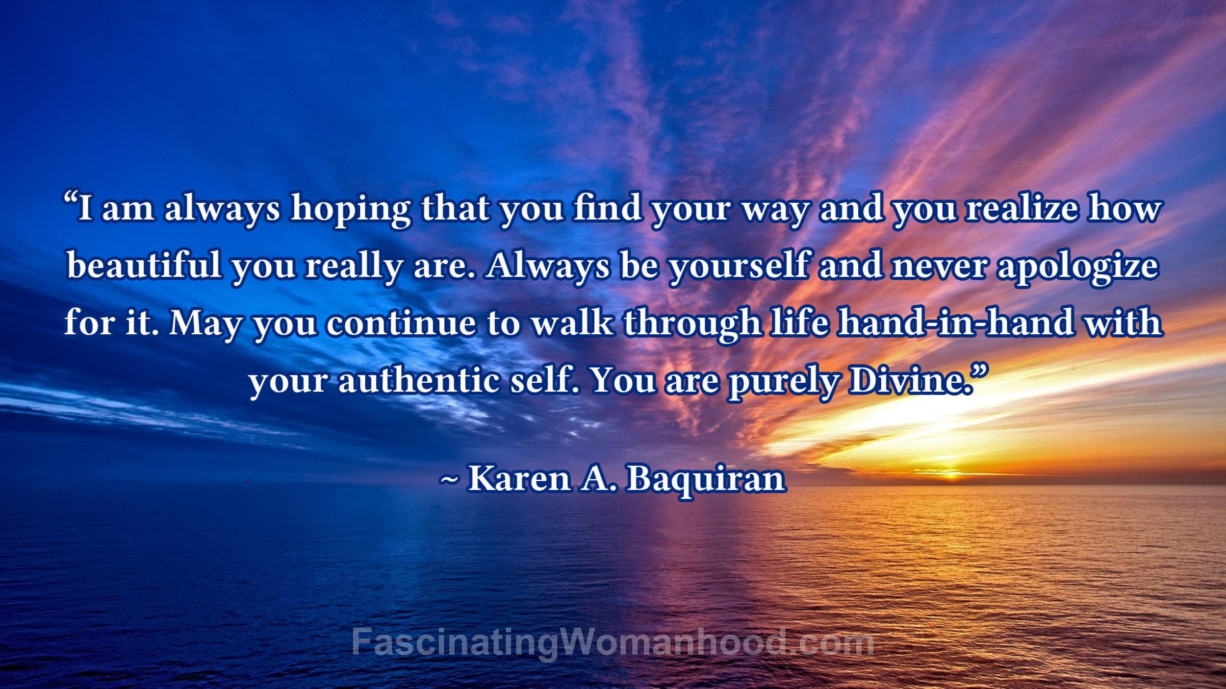 A Quote by Karen A Baquiran.jpg