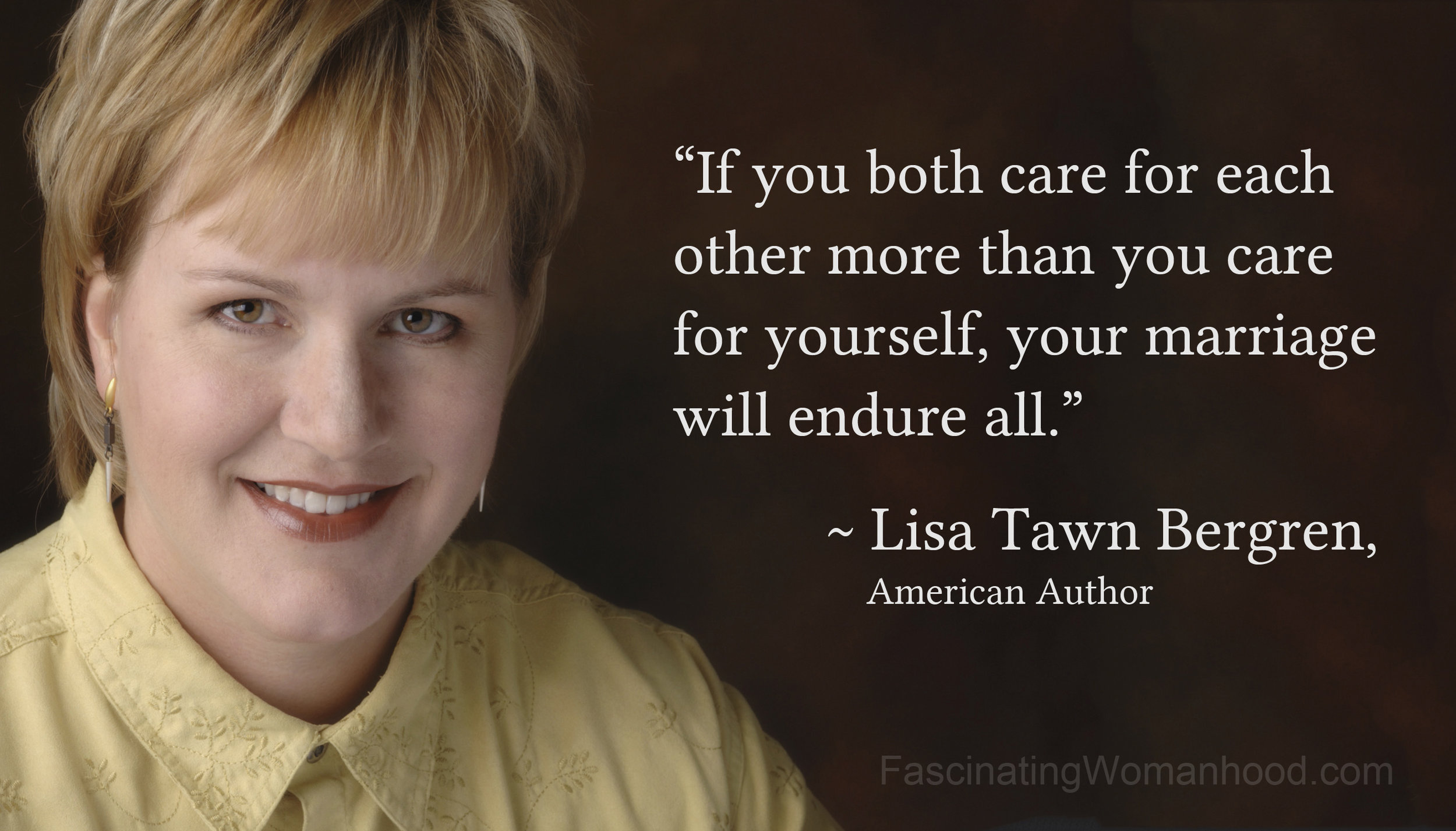 A Quote by Lisa Tawn Bergren.jpg