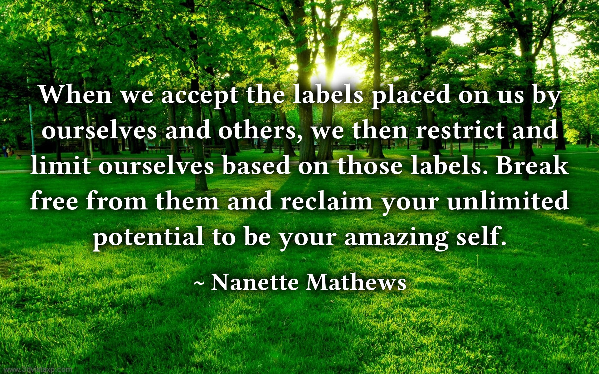 A Quote by Nanette Mathews.jpg