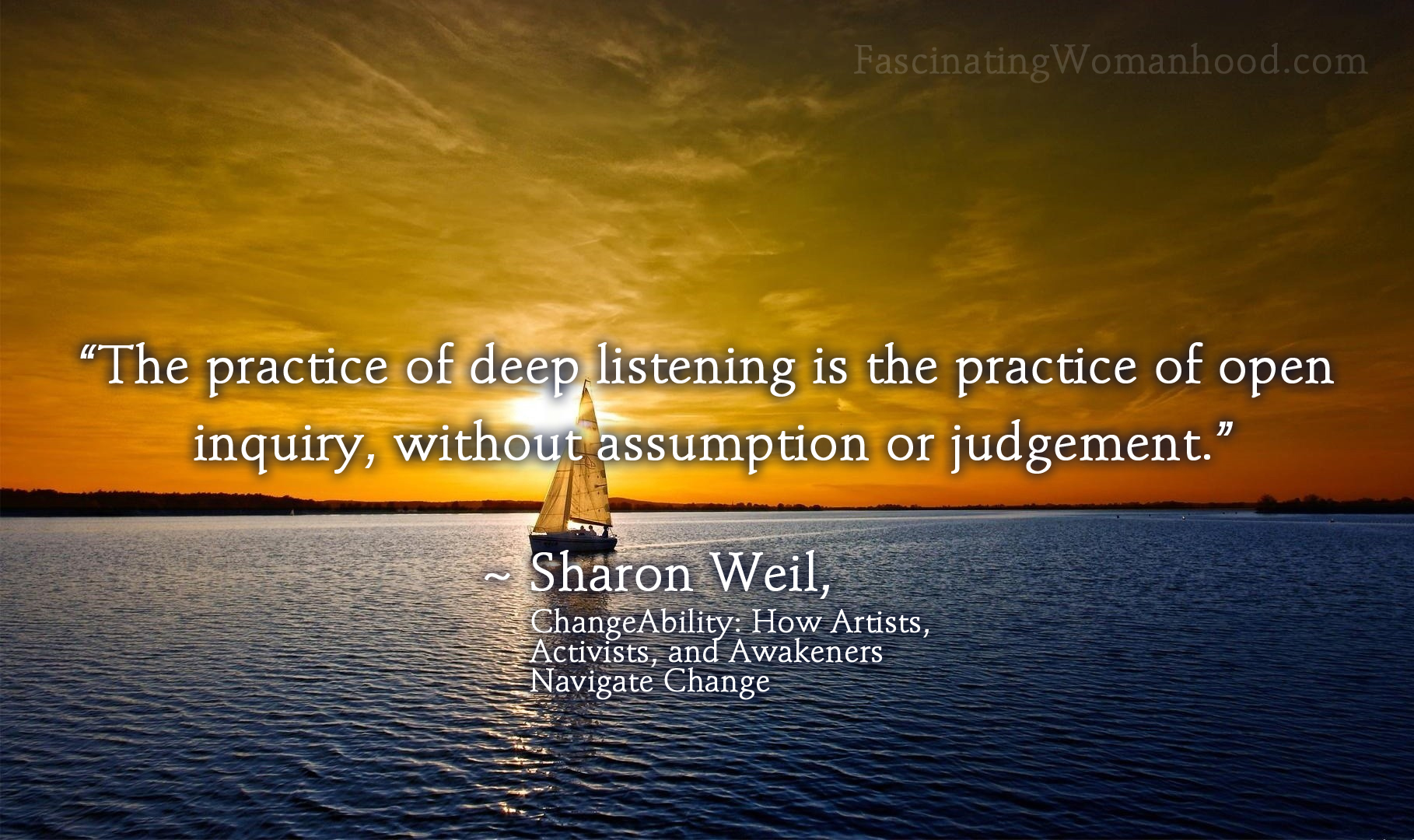A Quote by Sharon Weil.jpg