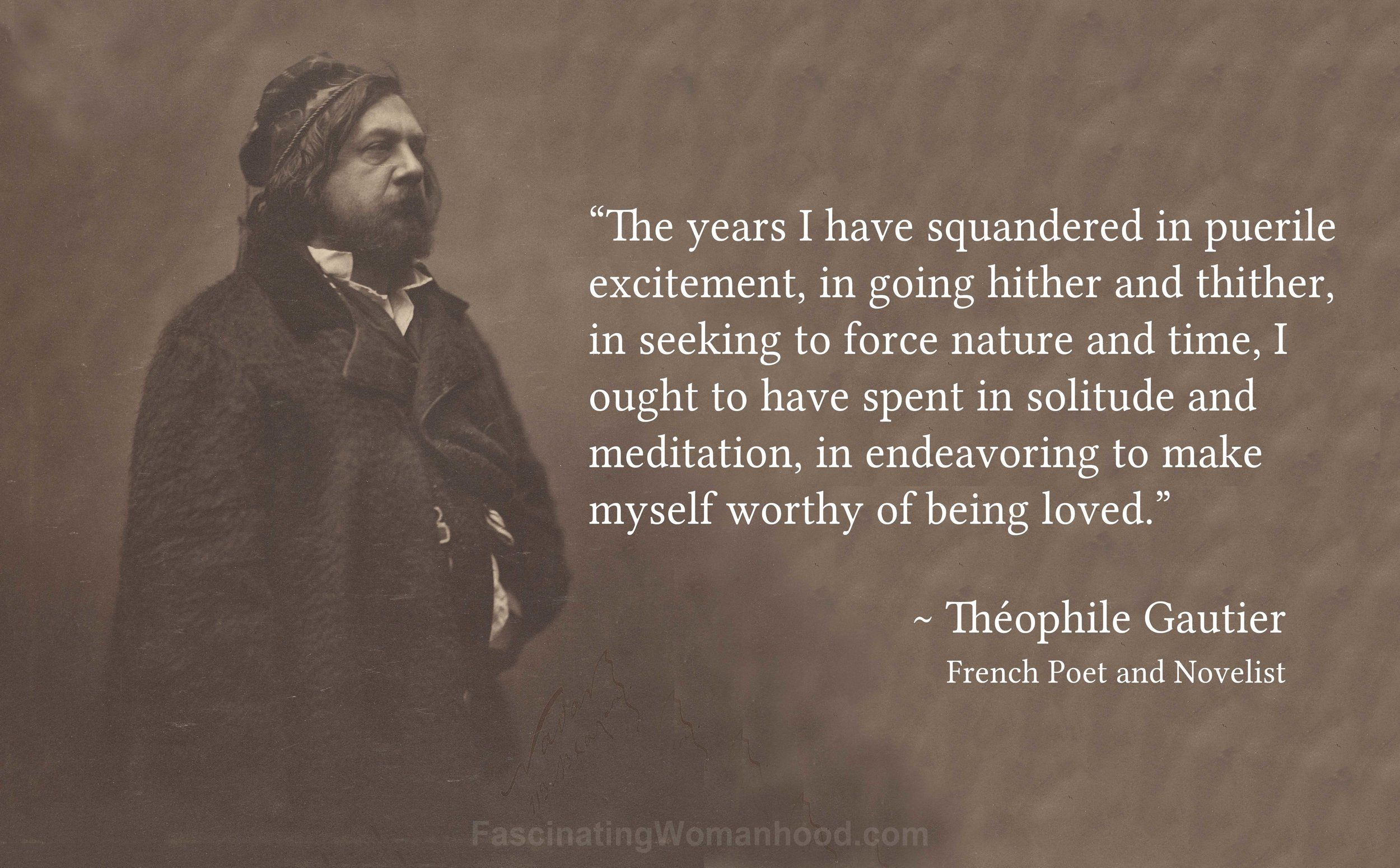 A Quote by Theophile Gautier.jpg