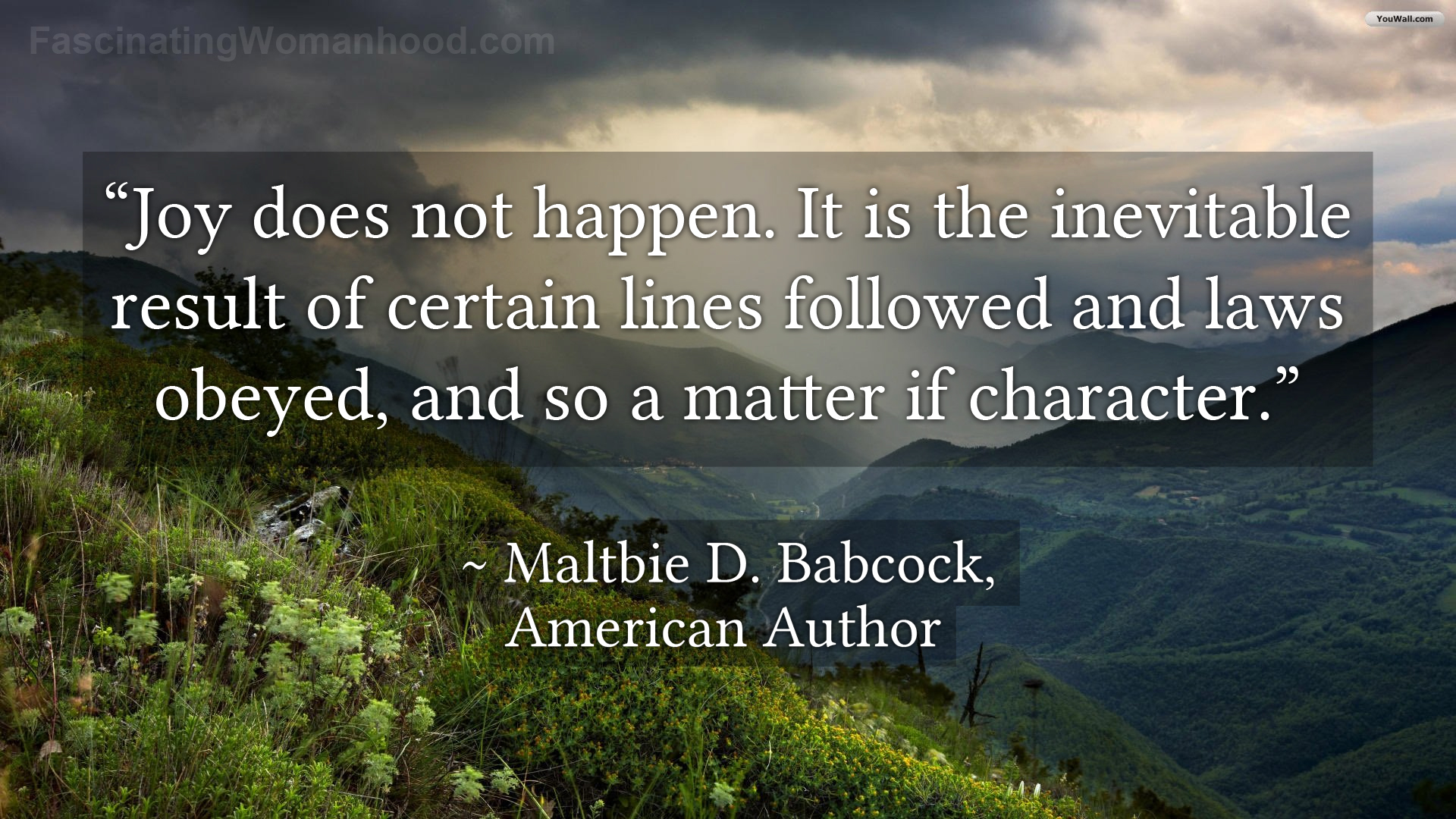 A Quote by Maltbie D Babcock.jpg