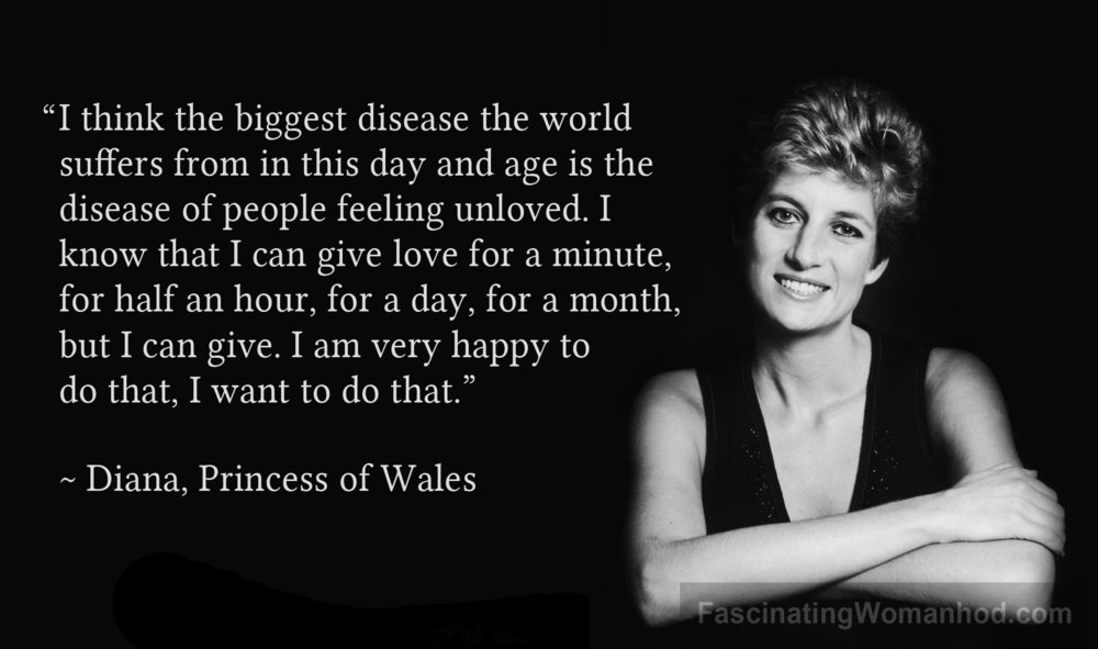A Quote by Princess Diana — Fascinating Womanhood