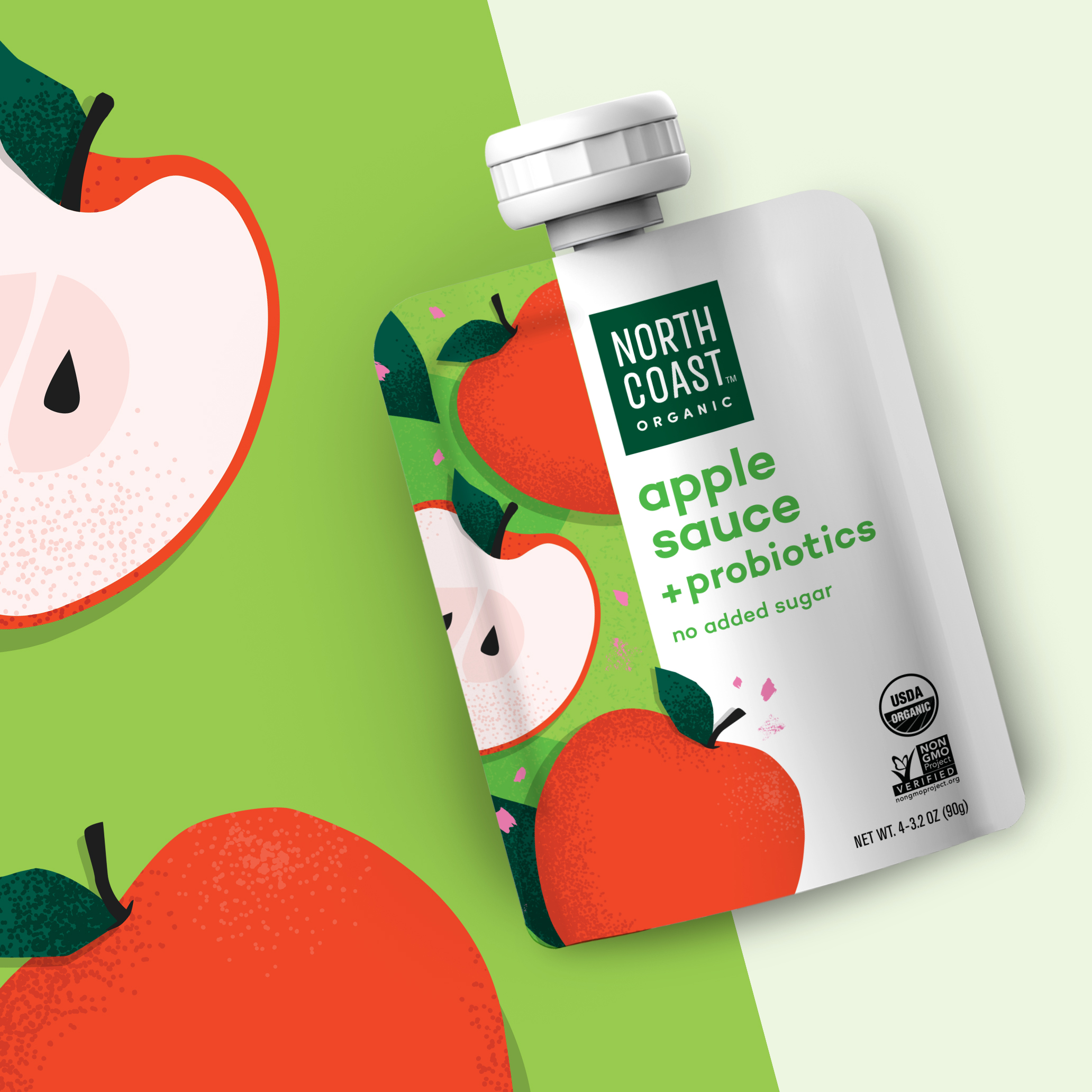 Northcoast organic packaging applesauce pouch