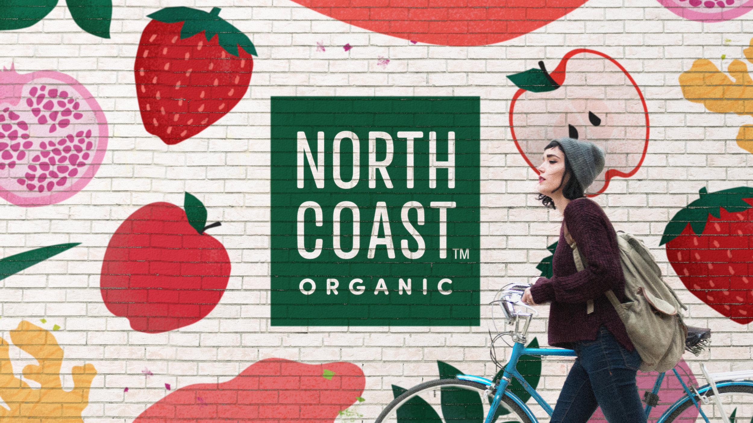 Northcoast organic wall graphic