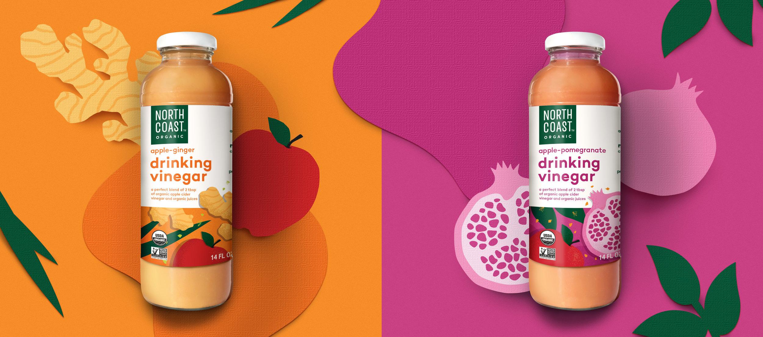 Northcoast organic packaging drinking vinegar