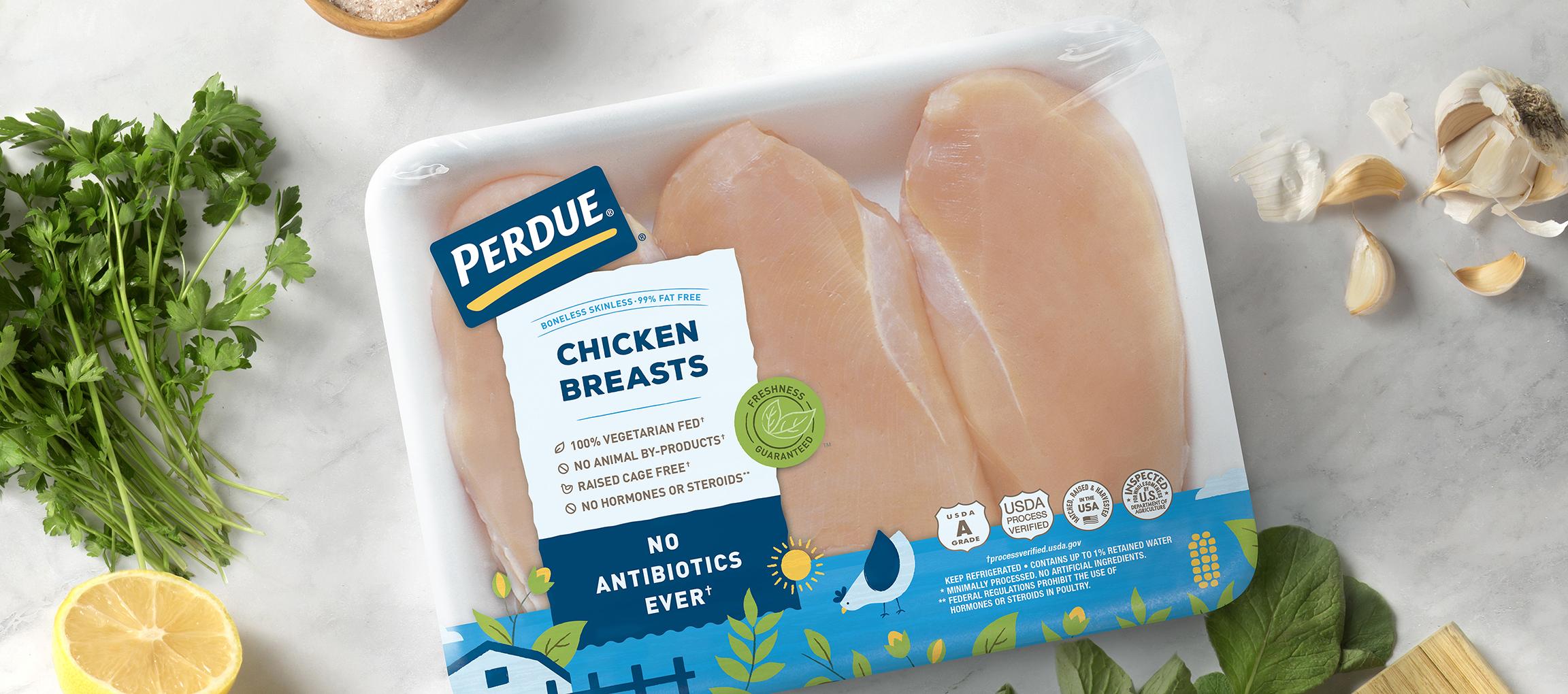 Perdue chicken packaging chicken breast