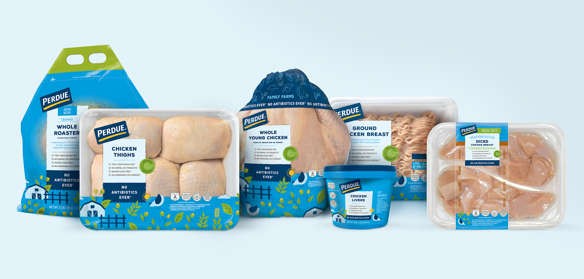 Perdue chicken packaging whole chicken lineup