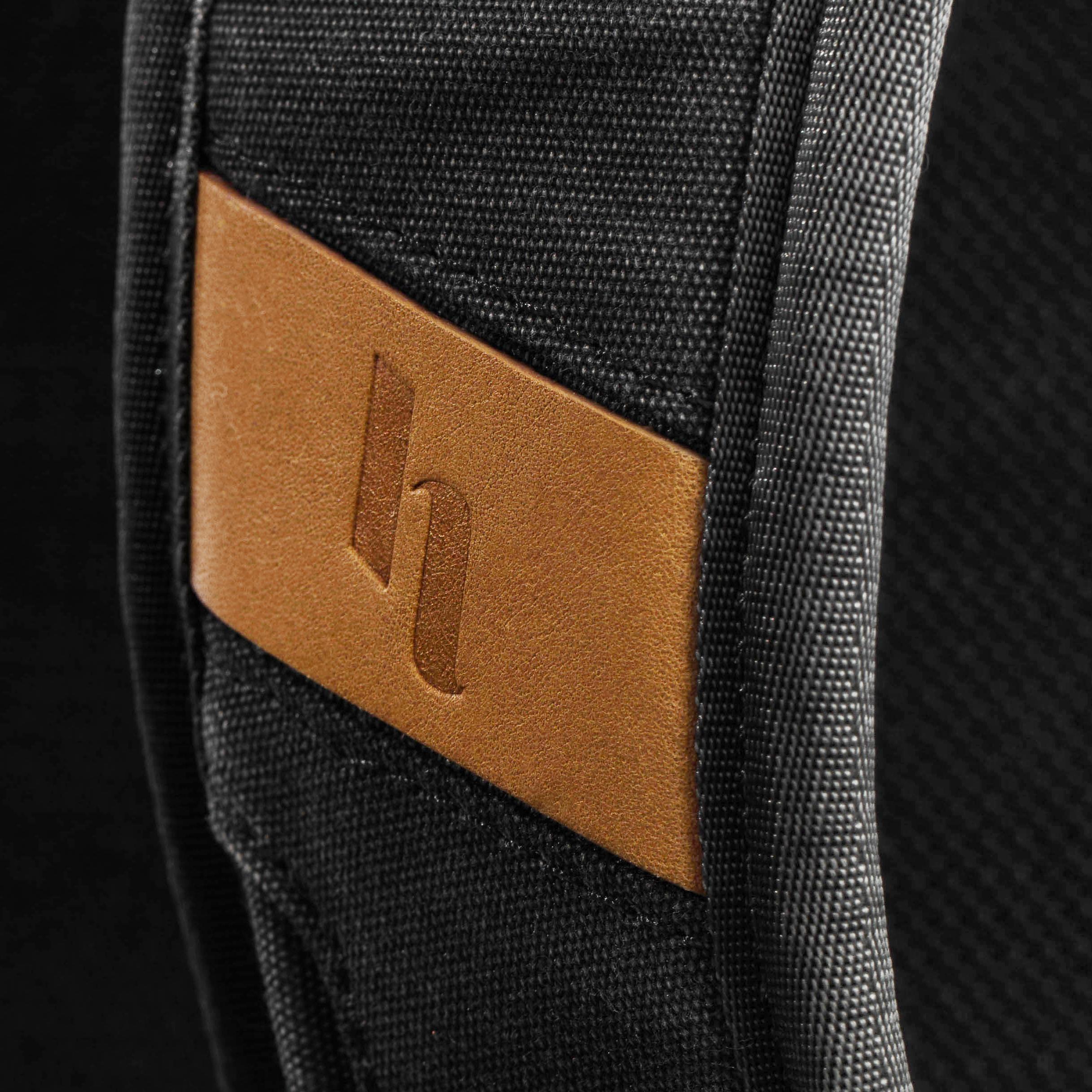 Holdland backpack detail strap logo