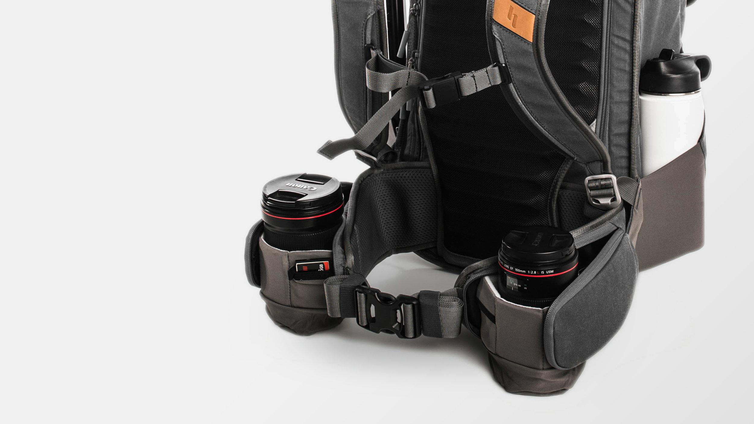 Holdland backpack detail front with lenses