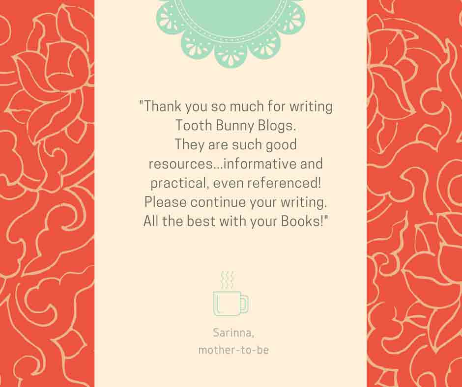 Feedback from Tooth Bunny blog reader