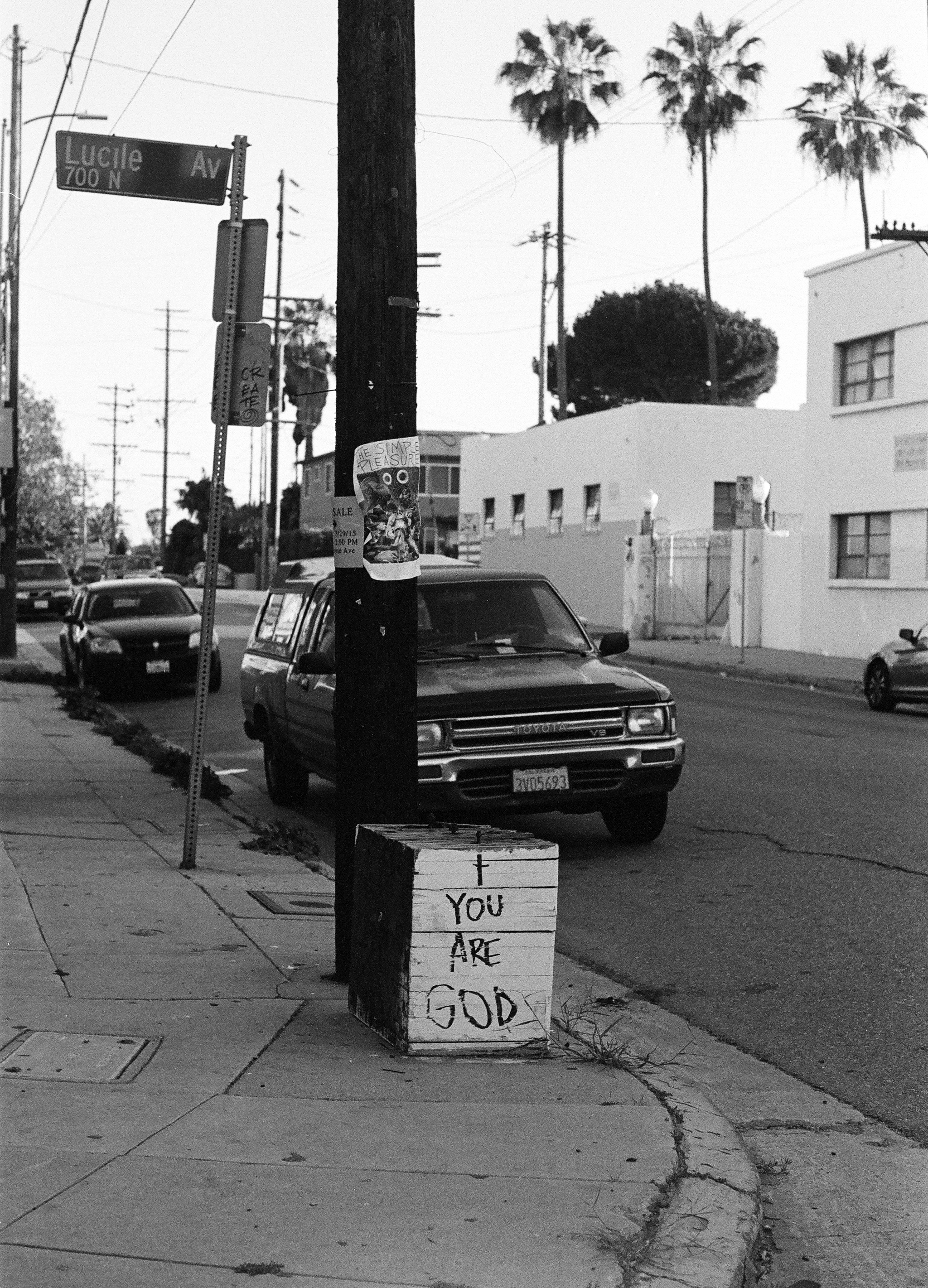 You are god. Silver Lake, CA. 35mm.