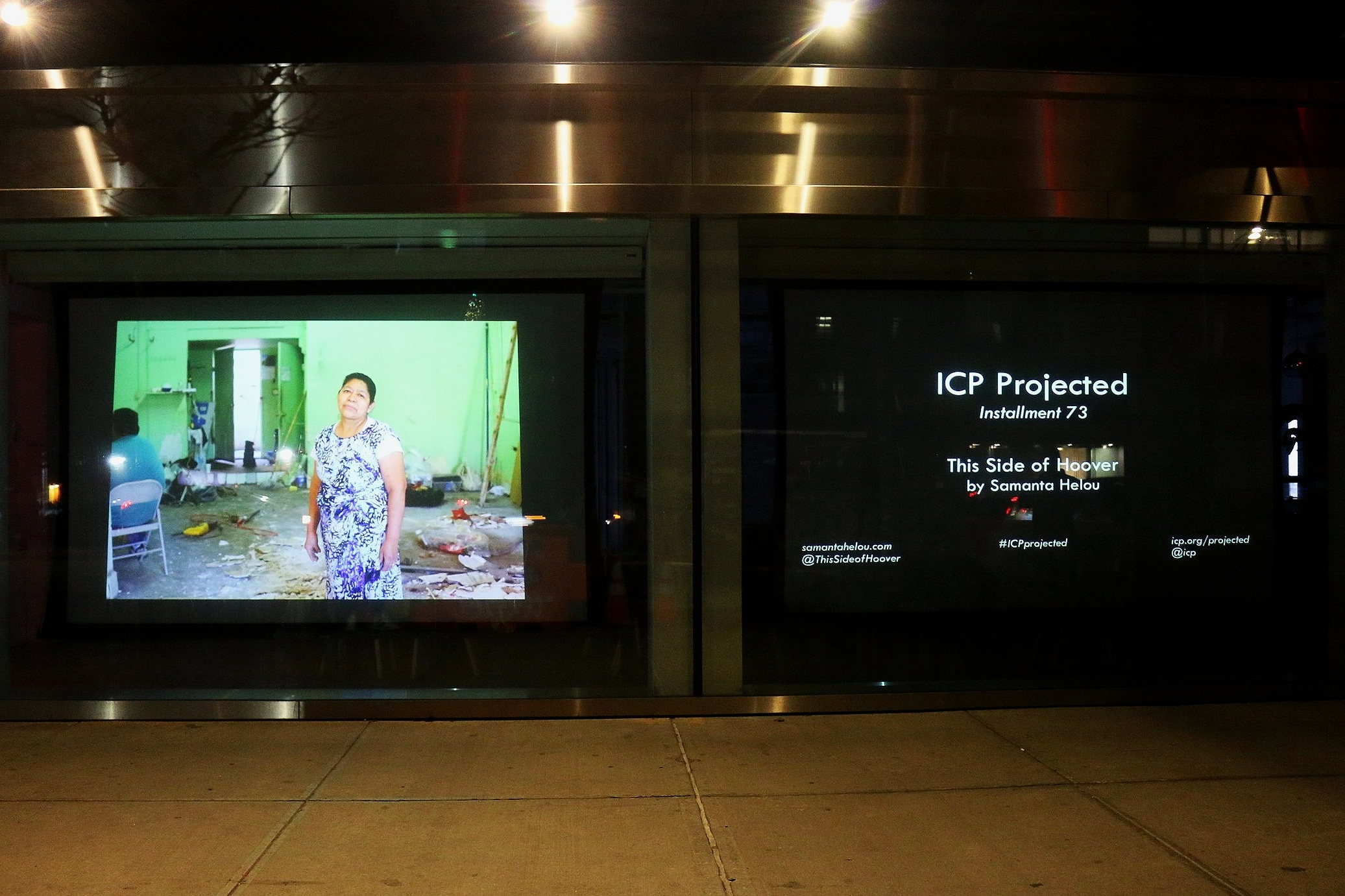 """Photographs from my project """"This Side of Hoover"""" were exhibited at the International Center of Photography in New York City for their  ICP Projected  series."""
