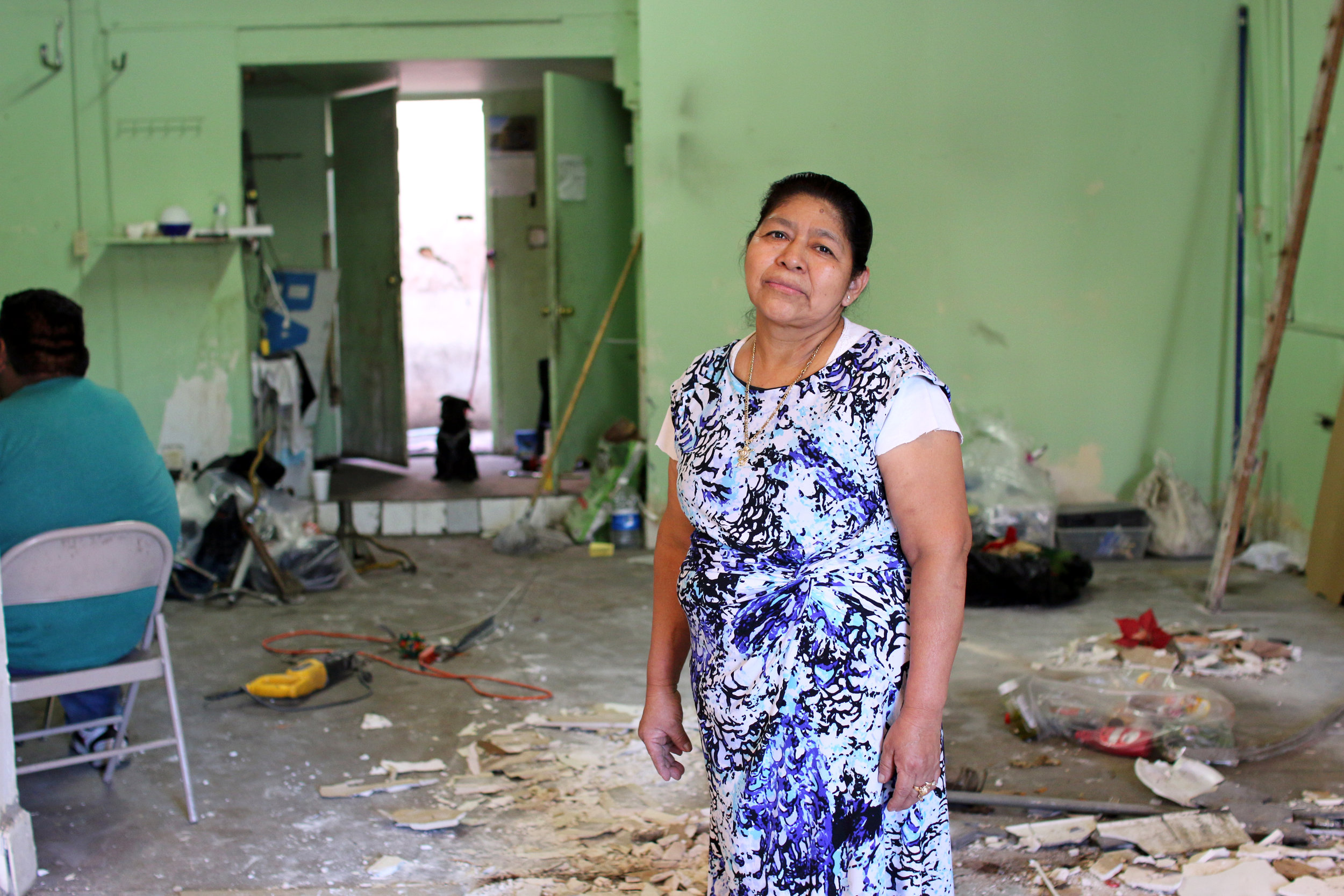 "A new owner bought the building where Super Pan Bakery once stood. In August of 2018, he gave the family 60 days to vacate the premises. Doña Elvia and her family packed up their belongings and emptied the bakery that served the community for almost 20 years. On October 18th of 2018, the day Super Pan officially closed its doors, regulars kept stopping hoping to buy their usual pan dulce, but Doña Elvia told them with great sadness that they were closed. ""I'm leaving with great sadness. I resign myself. It had to end one day. I thank God first because it's been twenty years, twenty years that we've been here. My children and my grandchildren grew up in this place. I want to thank all my neighbors, the whole community here who always supported me and they have come to say goodbye to me."""