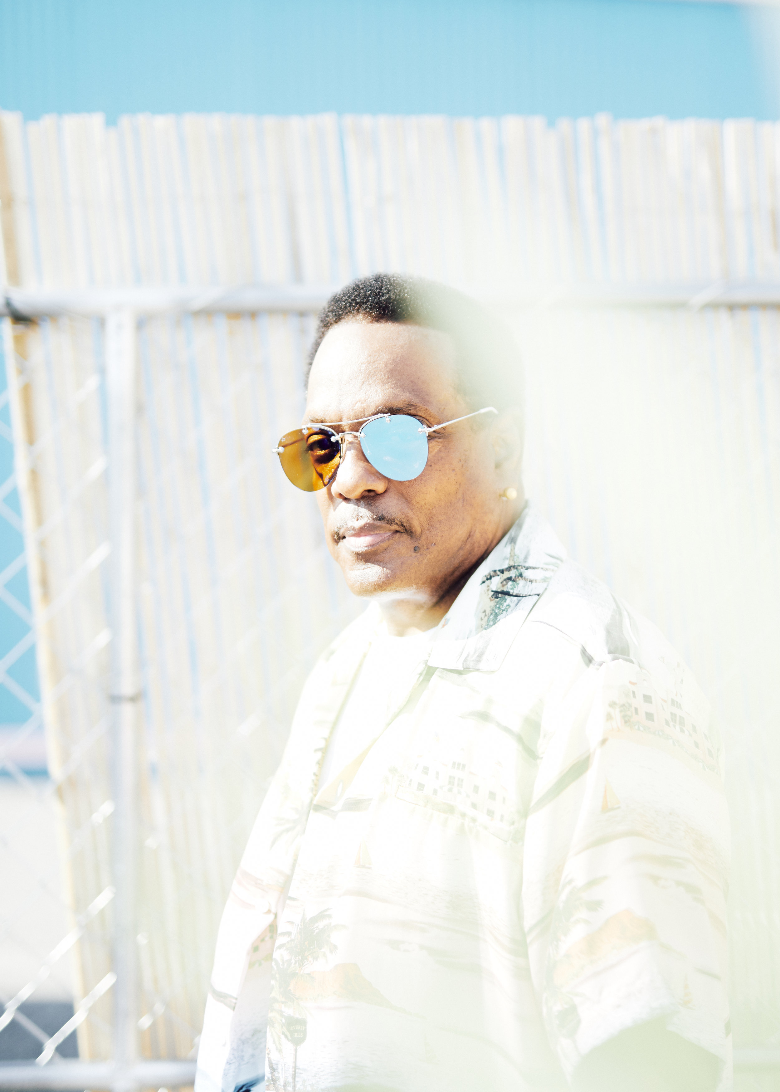 "Charlie Wilson at Pharrell's ""Something in the Water"" for GQ"