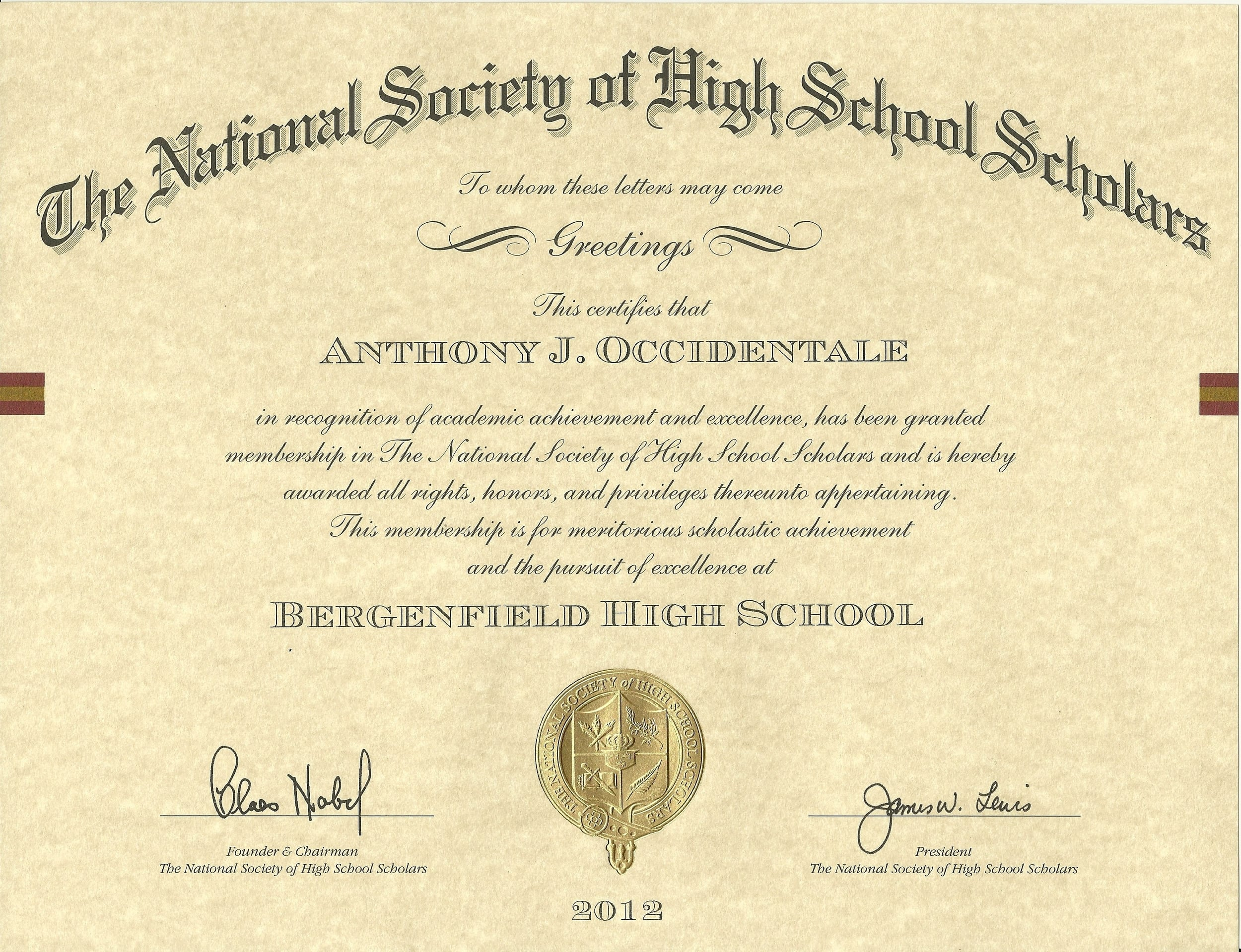 National Society of High School Scholars