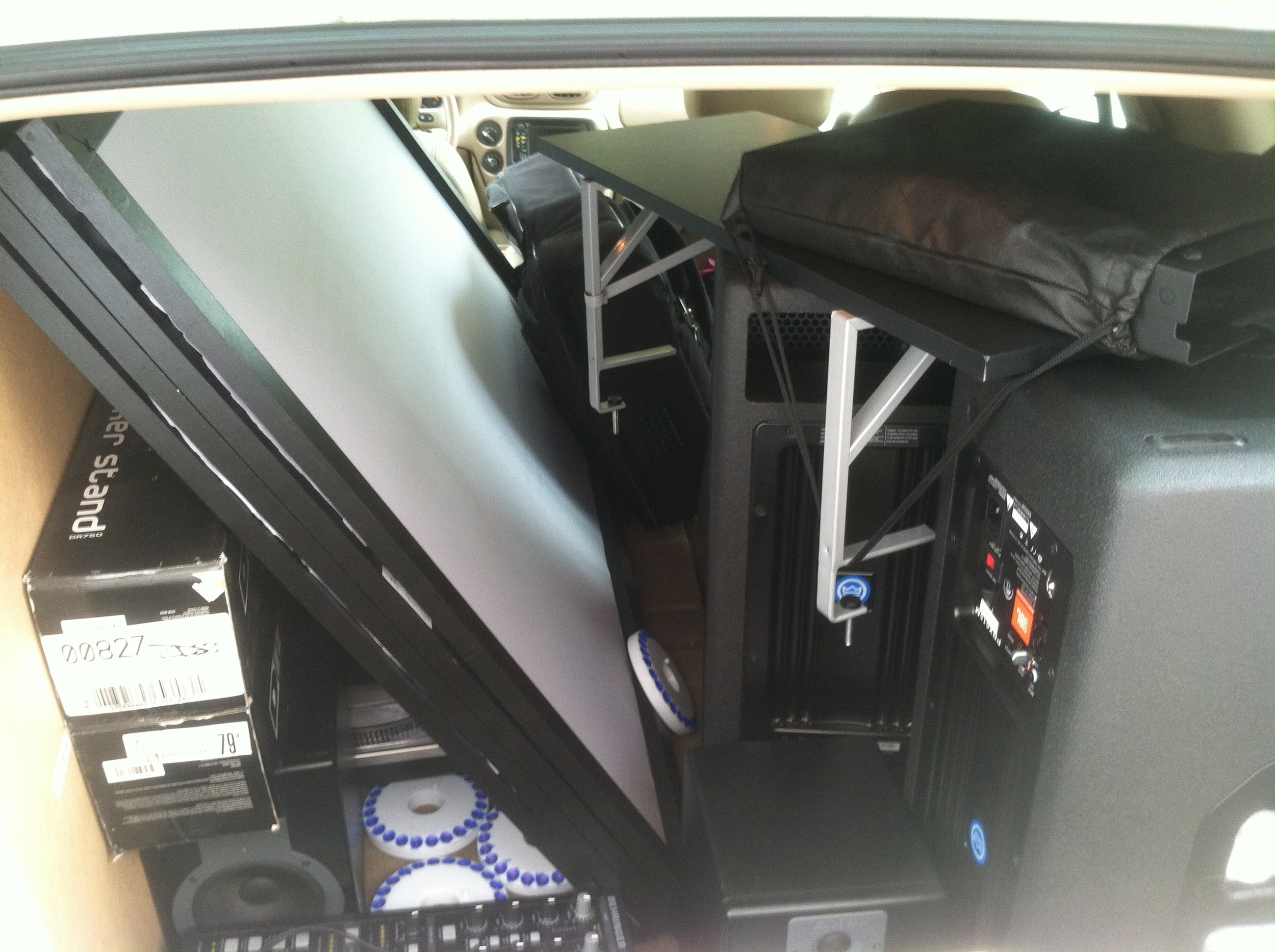 Booth Folded in Car