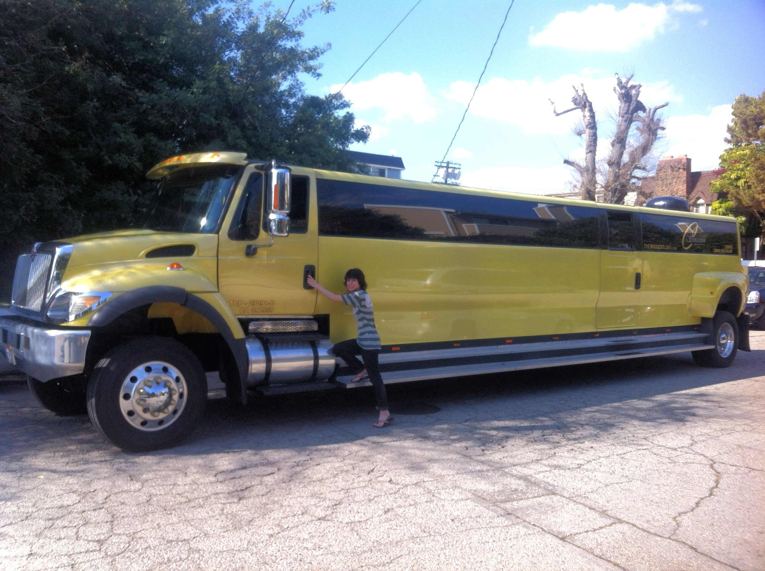 Me and the world's biggest limo