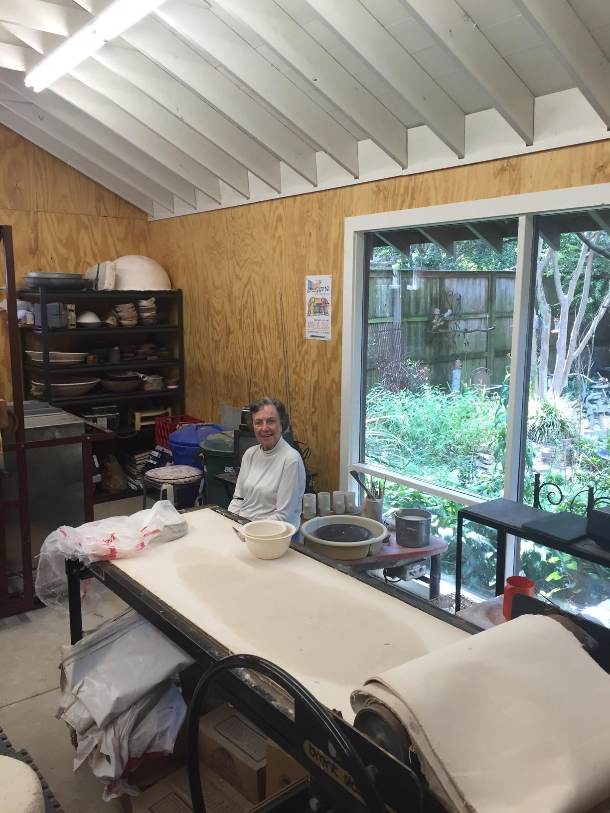 Mimi Dann, Artist in Residence for the day at the new Katie Dann Ceramic Studio.