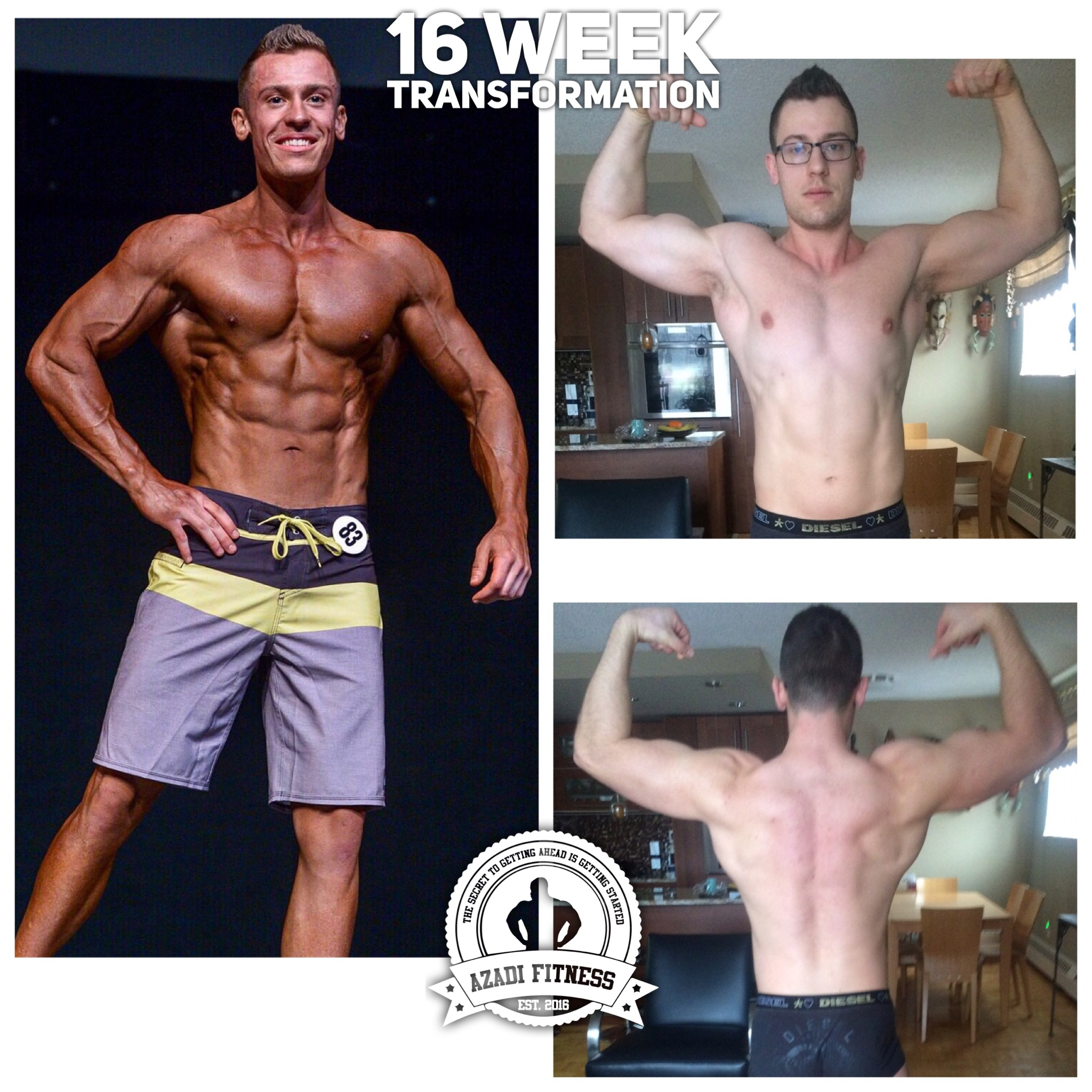 """Being coached by Sina for my 16 week contest prep has been nothing but a pleasure and vast learning experience for me. As a result of working with Sina, I received 1st place in the ABBA Southerns show which qualified me to become a provincial level competitor. He has so much knowledge about how proper training and nutrition caters to each persons body individually. You can be sure that what you get with Sina is not just a cookie cutter plan, but a plan that gets continuously updated towards your specific needs in order to achieve your goals. This resulted in me putting on solid muscle mass while becoming leaner leading up into my show. I have learned so much more about training and nutrition, as well as about how my body responds to changes in these two things, which I can now apply myself. I look forward to working with Sina again as I prepare for provincials in order to bring an even better physique and further develop my knowledge around the sport! If you're looking for a prep coach or someone to help turn your life around, you've arrived at the right place.""   -Konrad Witek, June 2017"