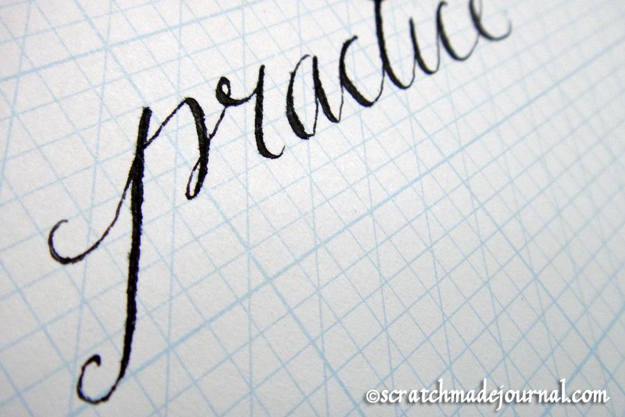 calligraphy practice - scratchmadejournal.com