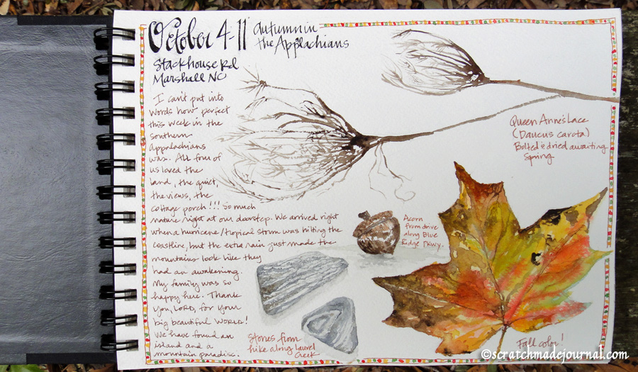 fall travel journal page - scratchmadejournal.com