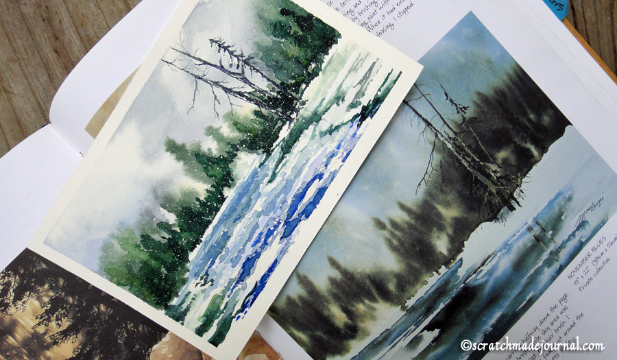 winter forest watercolor - scratchmadejournal.com