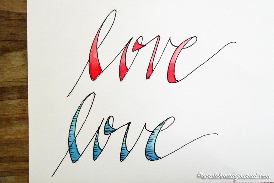 LOVE Hand Lettering: 3 Easy Fonts to Do - scratchmadejournal.com