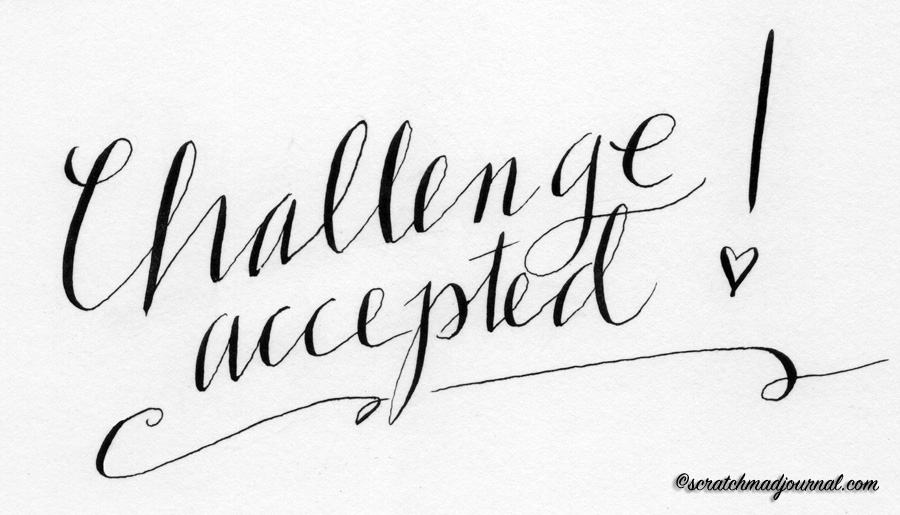 challenge calligraphy - scratchmadejournal.com