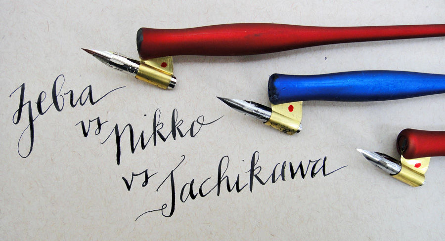Comparing the best G nibs for beginning calligraphy - scratchmadejournal.com
